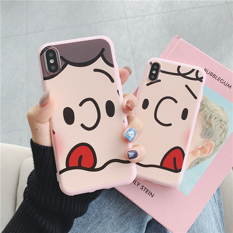 Charlie Lucy Painted relief hull case for iphone 6s 6 8 7 plus jelly scrub silicone soft cover xr xs max x s 7plus