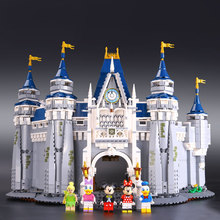 LEPIN 16008 Creator Cinderella Princess Castle City 4080pcs Model Building Minifigures Block Kid Toy Gift Compatible Legeo 71040