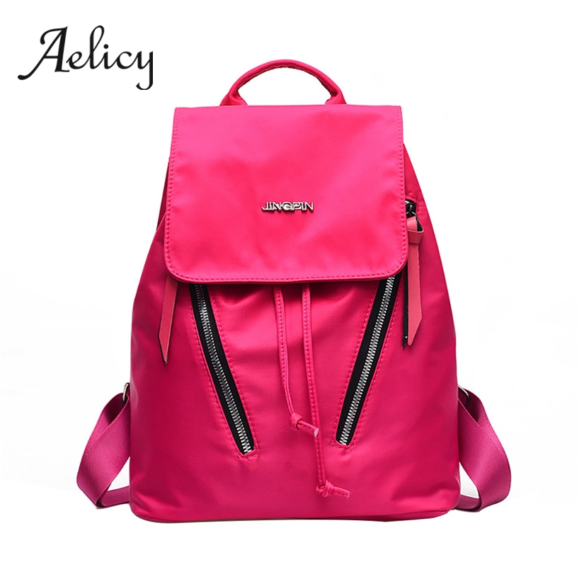 Aelicy Women Oxford Waterproof Backpack Fashion Lady Lightweight Wild Leisure Travel Hiking Shoulder Bag New School Bag 2019Aelicy Women Oxford Waterproof Backpack Fashion Lady Lightweight Wild Leisure Travel Hiking Shoulder Bag New School Bag 2019