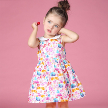 2016 Summer Baby Girl Peter Pan Collar Dresses for New Born Baby Clothes age 2 3