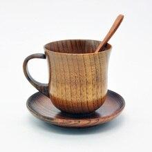 3 шт./компл. деревянная чашка с блюдцем ложка Кофе Чай инструменты аксессуары