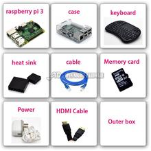 Discount! In Stock Raspberry Pi 3  6 times faster than Raspberry PI Model B plus with diy case