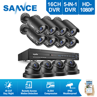 ANNKE 4CH 2 0MP 1080P HD DVR Outdoor Dome IR CCTV Home Video Security Camera System