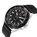 Hombres de Negocios Reloj de la Marca NAVIFORCE Deportes de La Moda de Cuero Pulsera de Cuarzo Resistente Al Agua Relojes de Pulsera Relogio masculino Reloj LX21