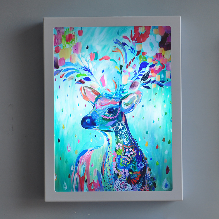 Arts Colorful Deer LED Wall Lamp Modern Fashion Bedside Light Sconce Fixtures For Kids Room Stairs