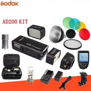 Image 2 - Godox AD200 ชุดคู่มือแฟลช Strobe 1/8000 HSS ไร้สาย Monolight 2900 mAh Lithimu แบตเตอรี่และหลอดไฟ Trigger ชุดอุปกรณ์เสริม