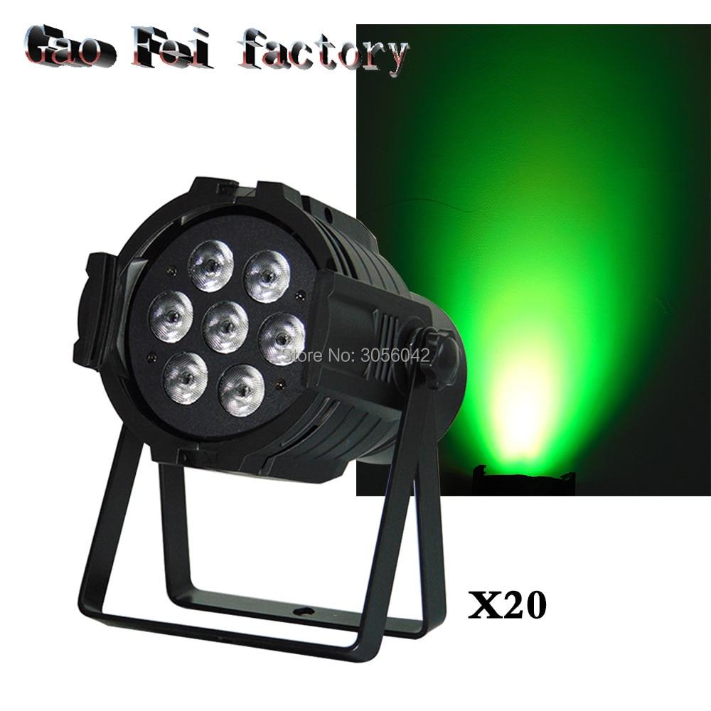 20pcs/lot Cheap 7x12W wash DJ Equipment RGBW Disco Light Stage Light Disco Beam Projector Lumiere LED Par Dmx Controller 20pcs lot 17 18g 17 33 to252
