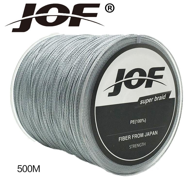 Nieuwe Collectie !! JOF 4 Srtands 500 M PE Gevlochten Lijn 10LBS Tot - Visvangst - Foto 5