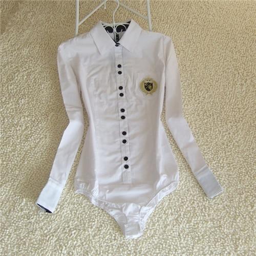 Brand New Shirt Blouse Women White Cotton Bodysuit Formal Shirts Female Tunic White Short Sleeve Body Blouses Tops Plus Size(China (Mainland))