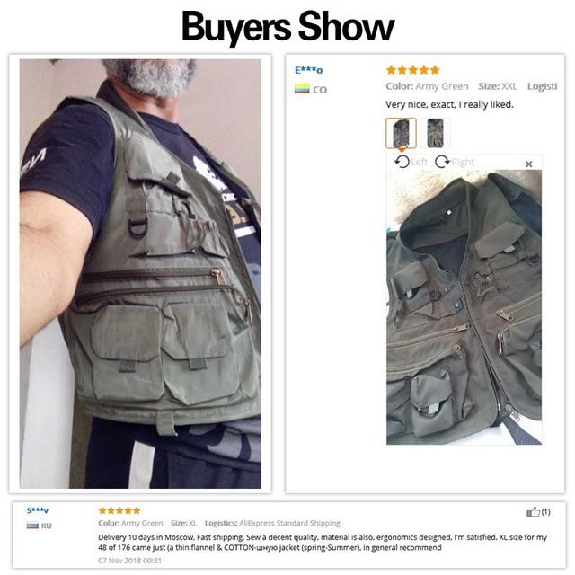 Korean Fishing Vest Quick Dry Vest Polyester Fiber Breathable Material