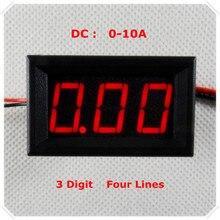 """RD 0,5"""" Цифровой амперметр постоянного тока 0-10 А четыре провода AMP 3 цифры тока Панель метр светодиодный дисплей Цвет [4 шт./лот]"""