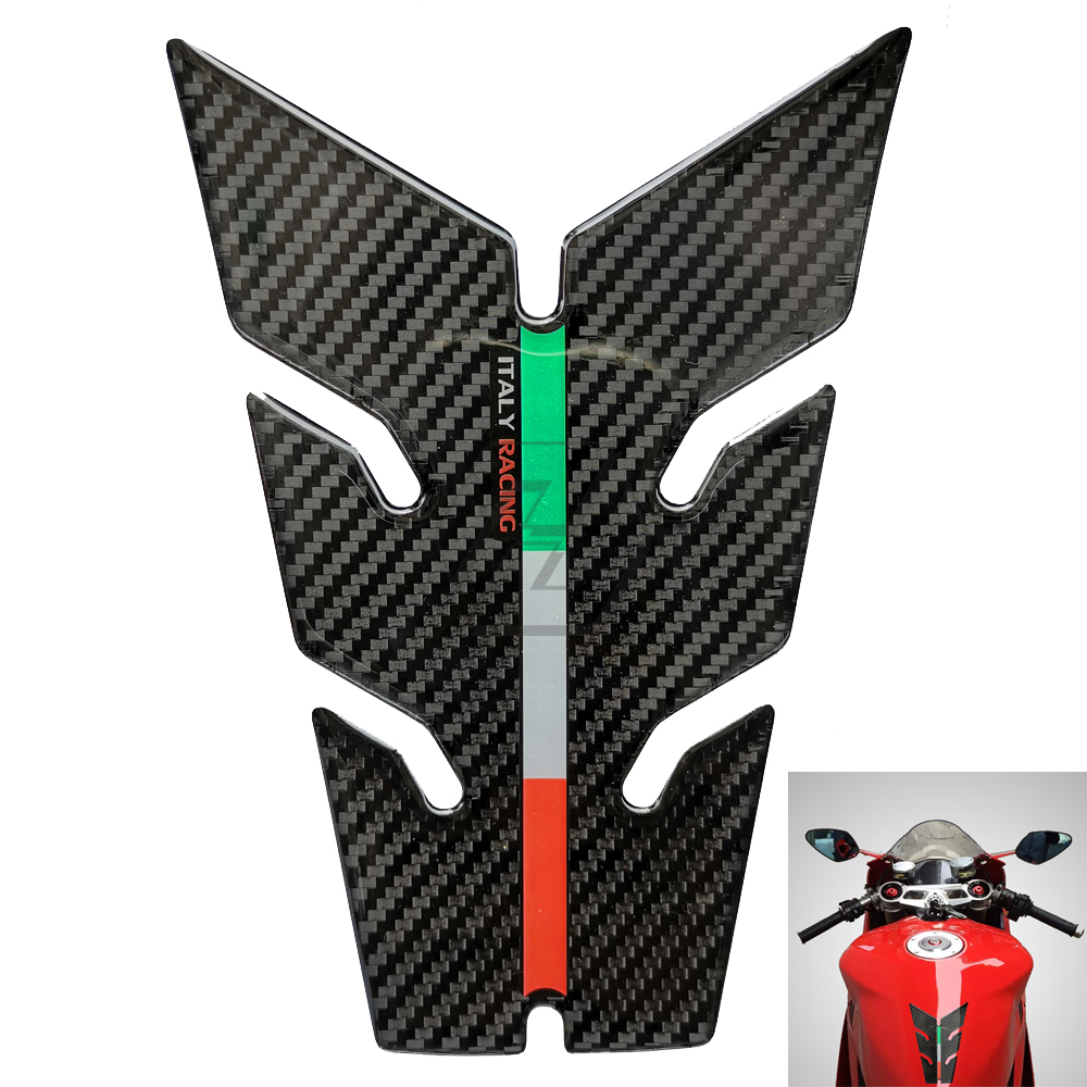 3D Carbon-look Motorcycle Gas Tank Protector Tankpad Case For Aprilia Ducati Panigale Monster