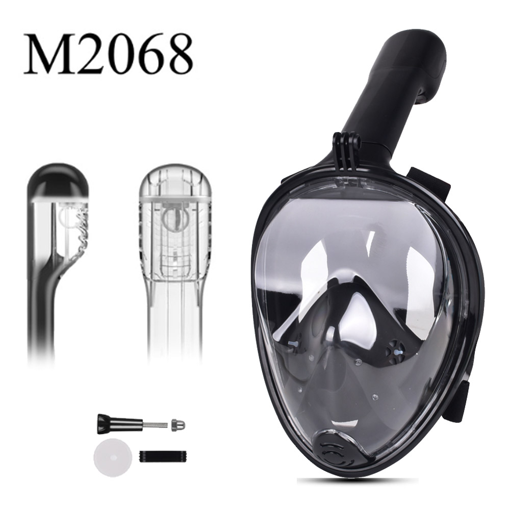 Full Face Snorkeling Mask Set Diving Underwater Swimming Training Scuba Mergulho Snorkeling Mask For Gopro Camera