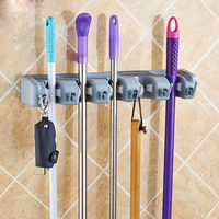 Broom Holder and Garden Tool Organizer for Rake or Mop Handles Remove Clutter from Bathroom and Laundry Room  Closet and Garage|Storage Holders & Racks| |  -