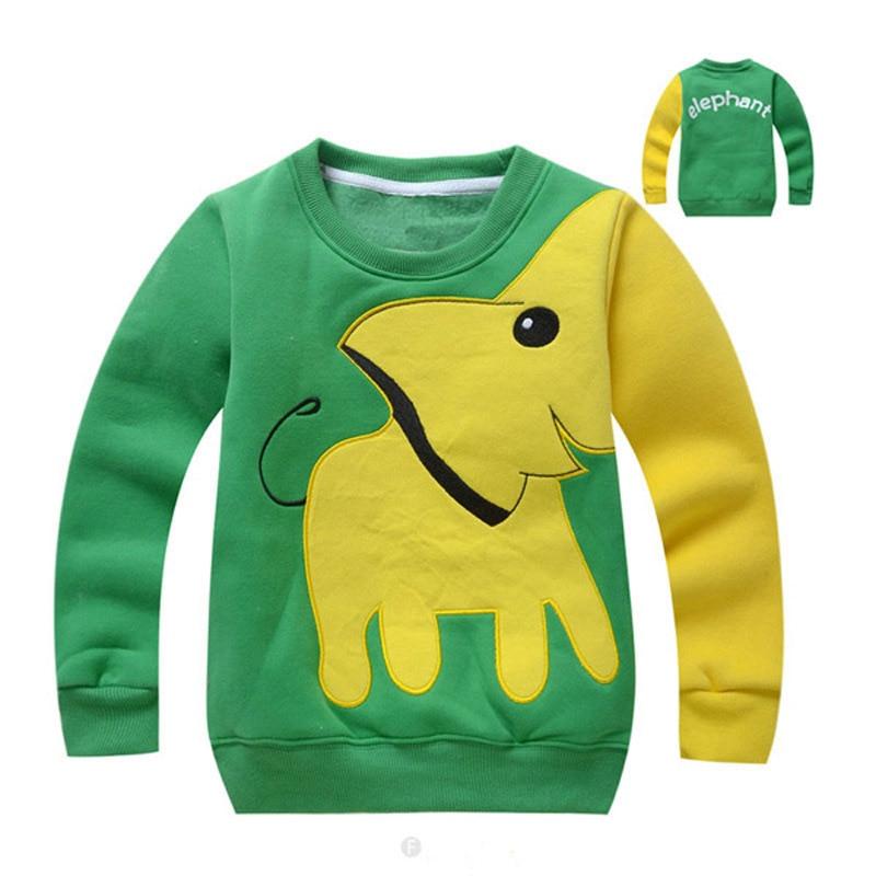 spring autumn children sweater elephant print long sleeve top sweatshirt unisex clothes girls boys hoodies cheap sweatshirts