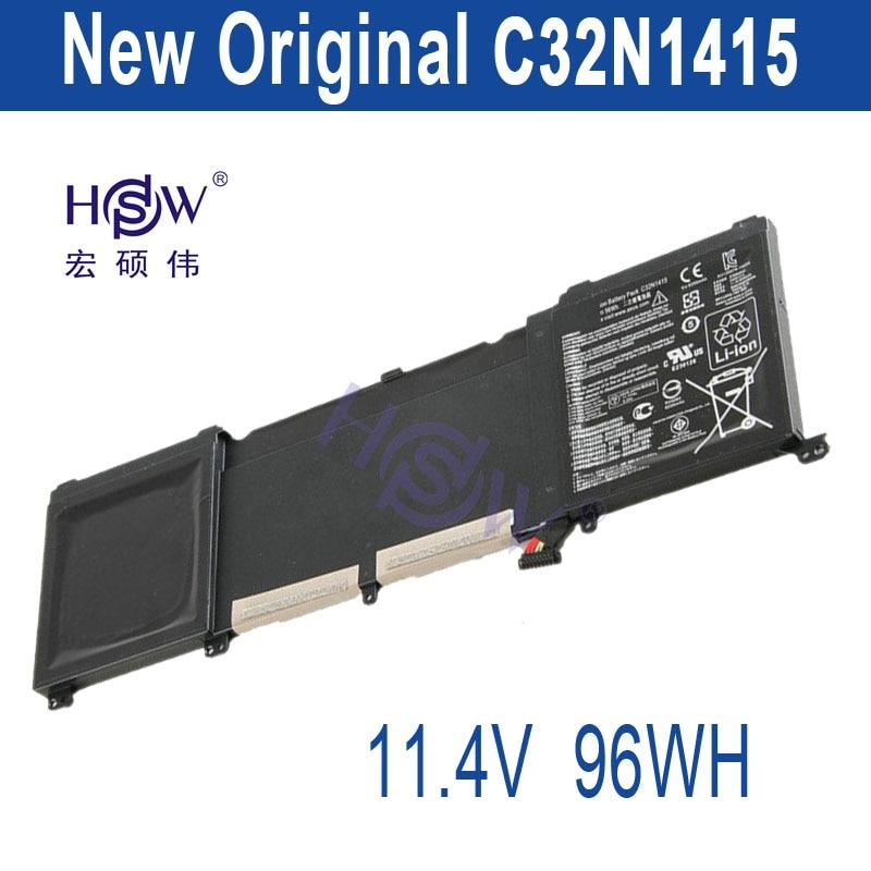 HSW original genius  96Wh 11.4V C32N1415 Li-ion Laptop Battery For ASUS ZenBook Pro N501VW, UX501JW, UX501LW bateria akku
