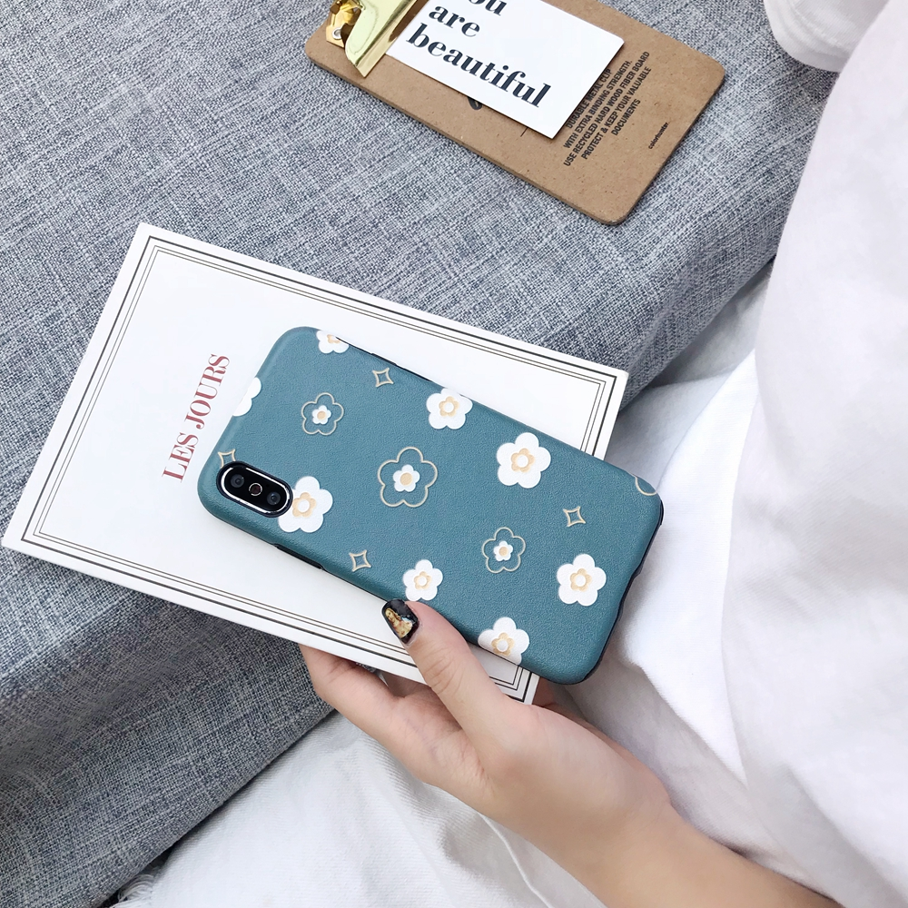 For iPhone 6 6s 7 8 Plus Ultra Slim Flower Phone Cases XR XS X Max TPU Soft Silicone 6 7 8Plus XR XS Matte Fitted Cover Coque in Half wrapped Cases from Cellphones Telecommunications