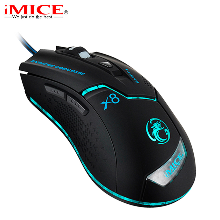 Ergonomi 3200DPI Wired Gaming Mouse LED Optisk USB-datamaskin Mus Gamer Mus for PC bærbar datamaskin for CSGO LOL Spill