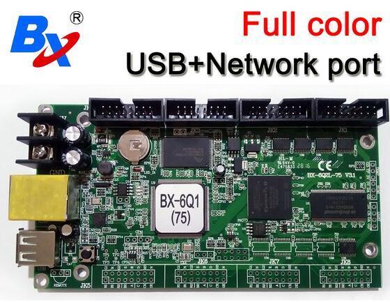 BX onbon BX-6Q1(75) Ethernet+USB Port 1024*64 pixel lintel full color controller Asynchronous Replace BX-5Q1