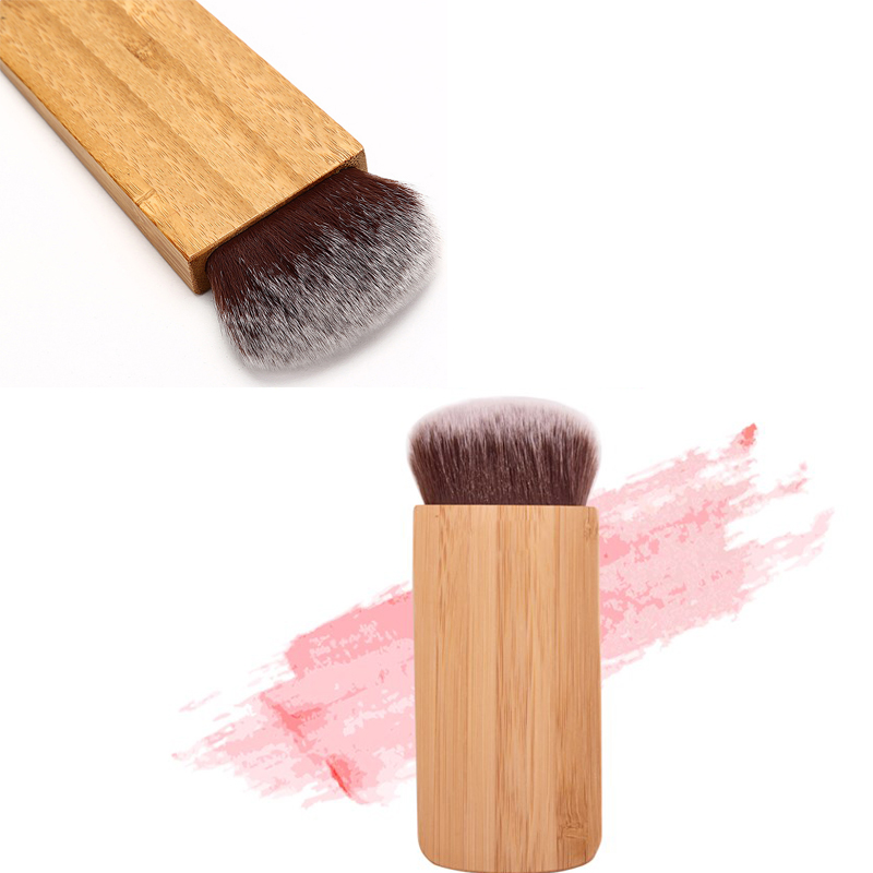 Professional Beauty Foundation Brush Blush Brush Makeup Brushes exquisite Cosmetic Tools Bamboo Handle finding color professional wooden cosmetic makeup bevel foundation brush brown