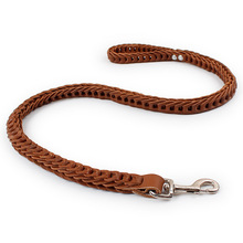 Pet Harnesses Leads Medium Large Dog Traction rope Leashes Collars Cowhide Fragmentation link leash Supplies product
