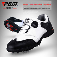 2018 PGM Golf men Shoes Summer Breathable Waterproof Sneakers for male Non slip sport shoes BOA Knobs Buckle Shoes in Golf Shoe