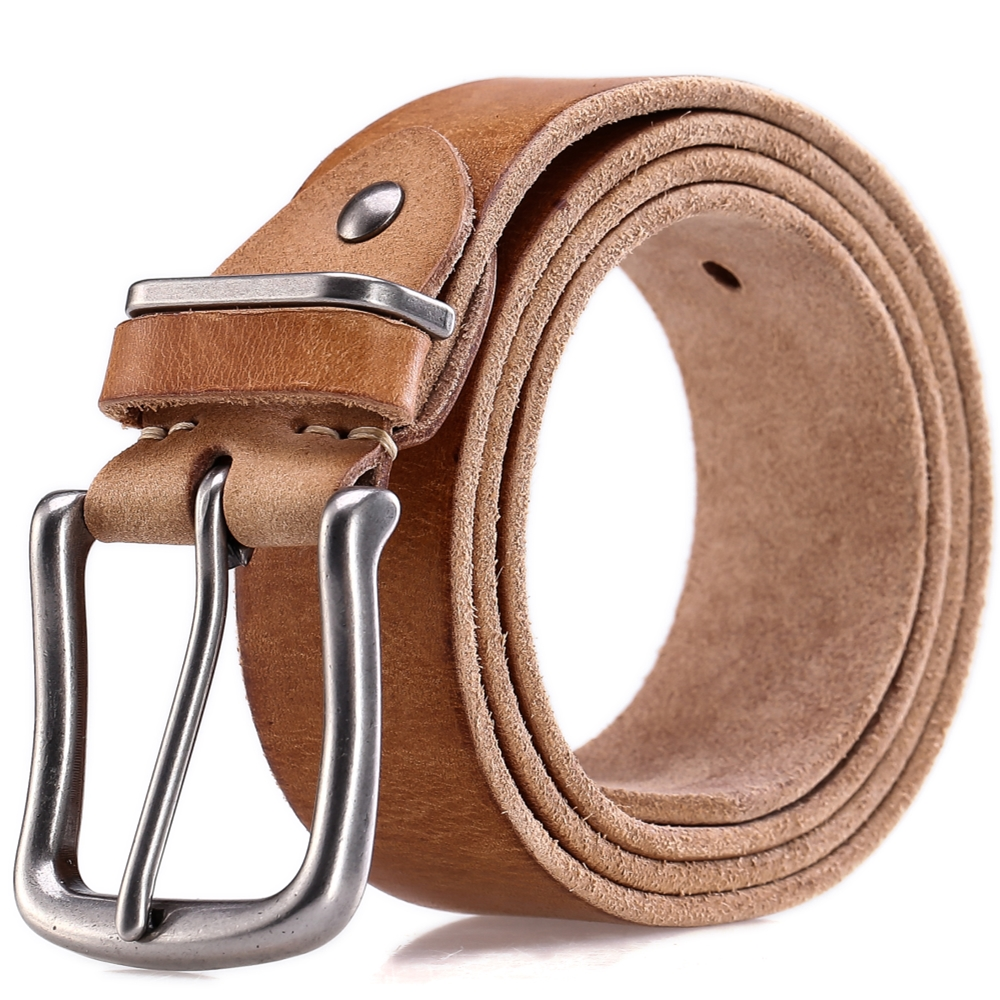 2018 belts men high quality luxury 100% full grain genuine leather soft strap camel grey cowboy male pin buckle ceinture homme