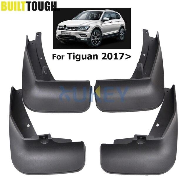 Bộ Đúc Chắn Bùn Cho VW Tiguan 2 Mk2 2016 2017 2018 Mudflaps Bắn Cận Vệ Phía Trước Phía Sau Bùn Sập Mudguards fender Bộ