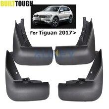 Set Molded Mud Flaps For VW Tiguan 2 Mk2 2016 2017 2018 Mudflaps Splash Guards Front Rear Mud Flap Mudguards Fender Kit