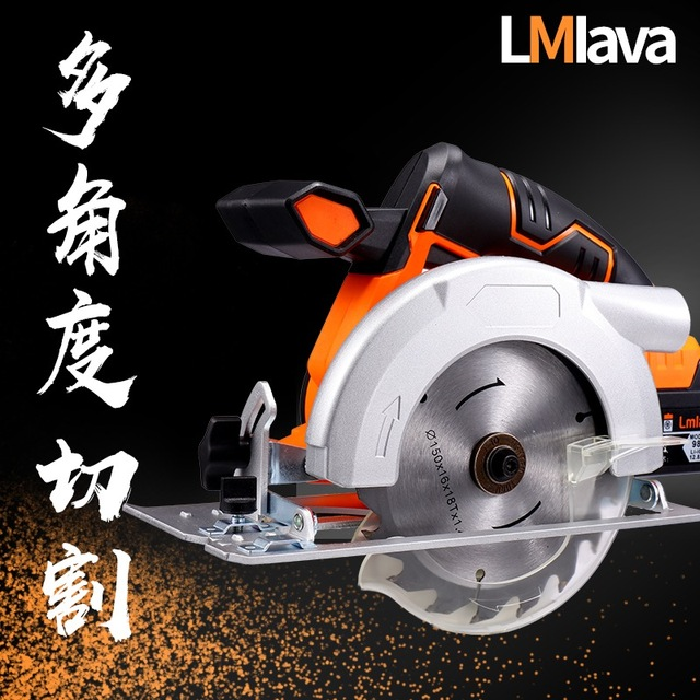 21V Cordless Circular Saw electric power tools with High Capacity  lithium Li-Ion Battery and Charger 2