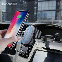 Baseus QI Wireless Charger Gravity Car Phone Holder For IPhone 8 Samsung S9 Car Mount Fast
