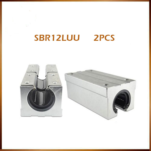 Free shipping 2pcs SBR12LUU aluminum block 12mm Linear motion ball bearing slide block match use SBR12 12mm linear guide rail