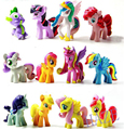 Lot of 12PCS 5cm Little Pony Toppers PVC Cake Action Figures Dolls Toys