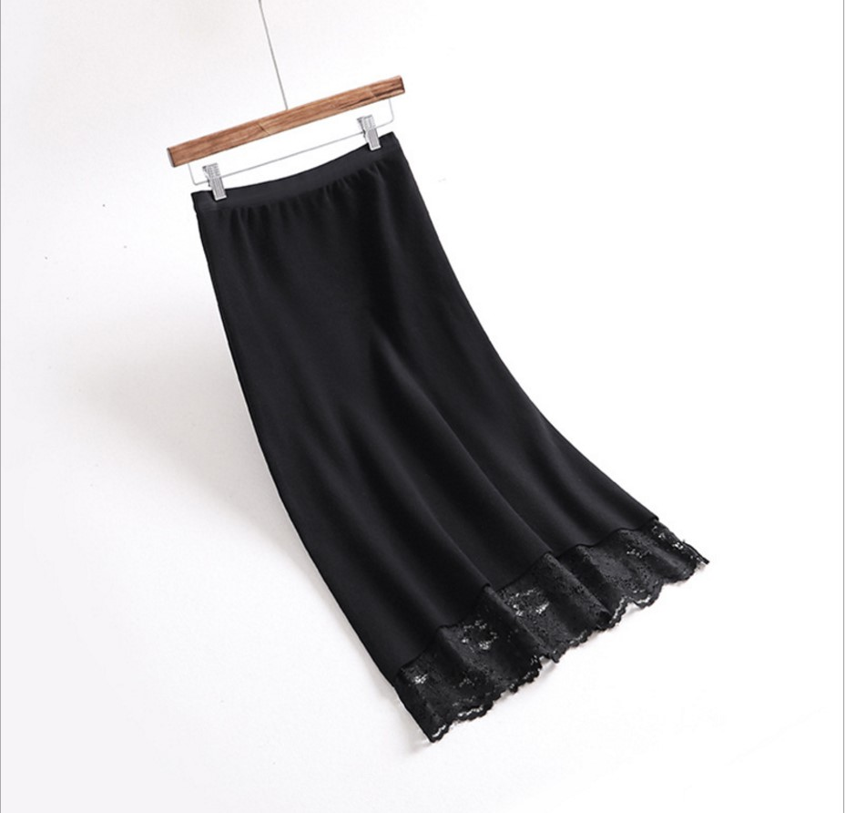 Saia Invierno Encaje Vintage Gtgyff Faldas Beige Para Mujeres Alta Falda Beige De Cálido Saias Midi Las Cintura A Estiramiento Negro negro line Punto H4xdqwP4