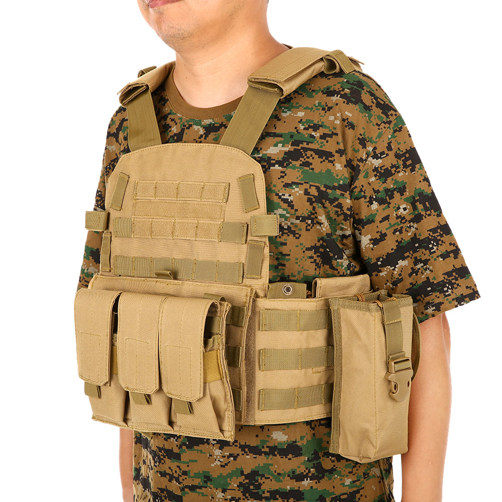 En plein air Hommes de Modulaire Molle Gilet Chasse Chest Rig De Charge De Vitesses Carrier Vest avec Hydratation Poche Veste En Plein Air Sacs