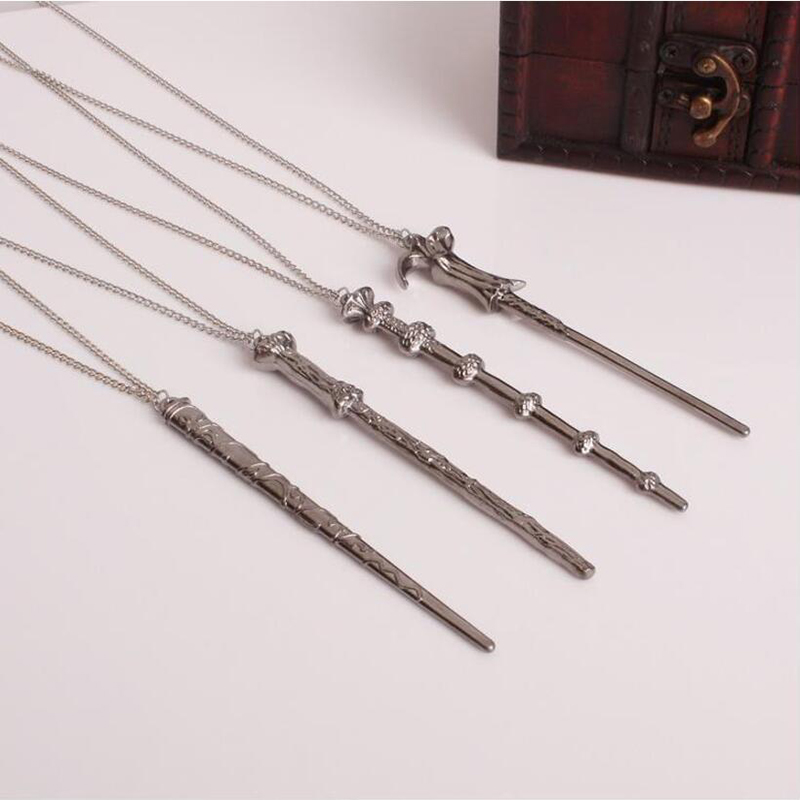 Magic Novel Harry Potter Vintage Necklace Classic Goblet of Fire Necklace Alloy Magic Wand Pendant Necklace Keychain gifts toys alluminum alloy magic folding table bronze color magic tricks illusions stage mentalism necessity for magician accessories