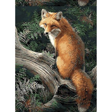 Diamond Mosaic Diamond Embroidery forest fox Full Diamond Painting Cross Stitch Of Rhinestones Handmade(China)