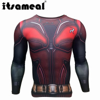 Itsameal Robin Costume Men Compression Shirts Keep Fit Fitness Long Sleeves Base Layer Skin Tight Weight