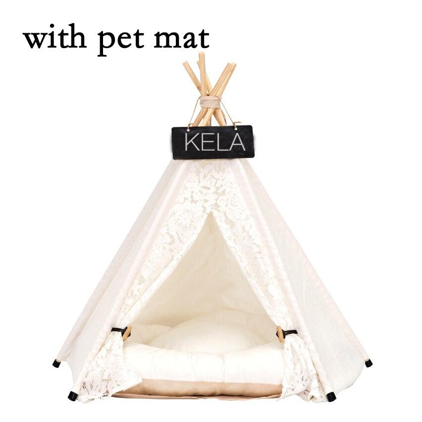 JORMEL Pet tente Pet lit Portable lavable chien chiot jouet maison chat tipi étoile motif contient tapis nouveau 2019