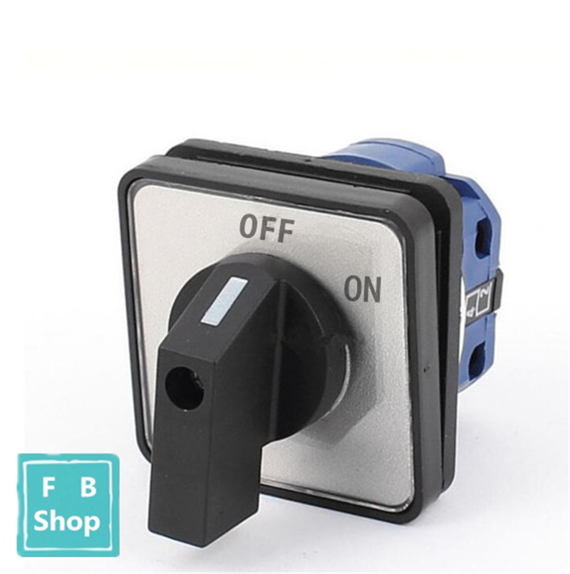 цена на High Quality LW26-20 ON/OFF 2 position 2 Poles 4 terminals CA-10 440V Ui 660V 20A Rotary Cam Switch