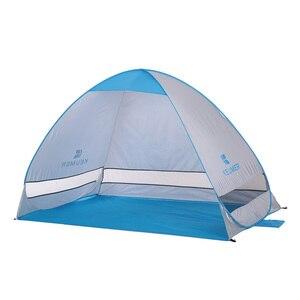 Image 3 - 200*120*130cm ao ar livre automático instantâneo pop up barraca de praia portátil anti uv abrigo acampamento pesca caminhadas piquenique acampamento ao ar livre