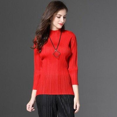 Modo Del Tre Donna Nero grigio Libero shirt T Di Magazzino In Fold Solido Basamento Sexy New arancione Trasporto rosso Quarti blu Il gbfy67