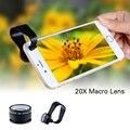 20x lente macro de alta calidad para lenovo p780 s850 p90 vibe k5 microscopio lentes de cámara del teléfono móvil para nokia lumia 1020 630 640