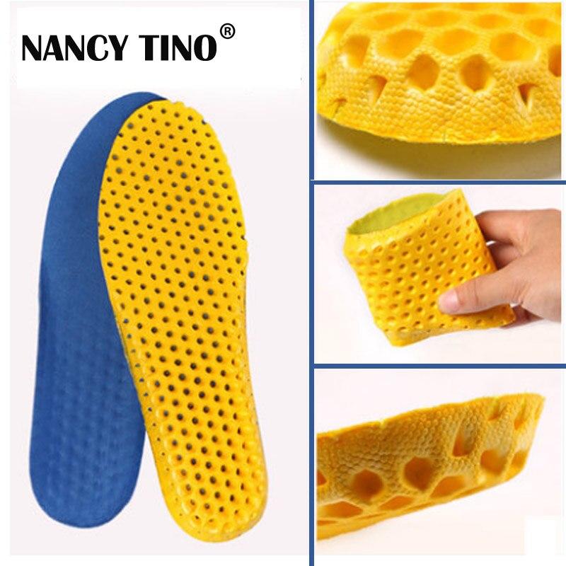 NANCY TINO Unisex Mesh Footwear Shock Absorbable Sweat Deodorant Running Soccer Basketball sport pad Insoles plus size 35-46