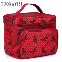 Women Makeup Bag Toiletry Bathing Cosmetic Bag Case Travel Floral Make Up Toiletry Bag Organizer Storage
