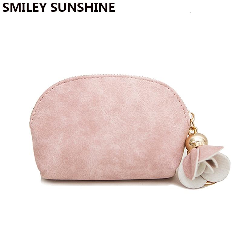 SMILEY SUNSHINE lady mini short clutch wallet vintage matte women wallets fashion small female purse mini coin purse holder card short smiley
