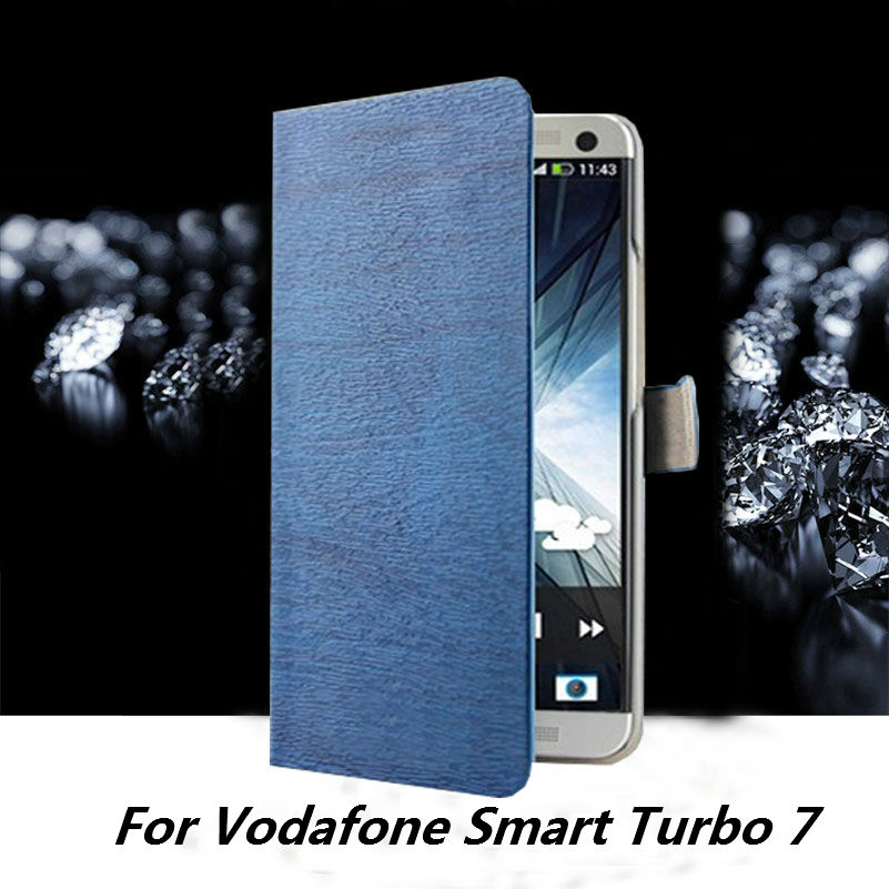 Luxury Wallet Flip PU Leather Case Cover For Vodafone font b Smart b font Turbo 7