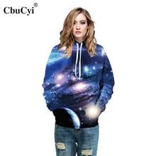 Фотография Space Galaxy 3D Printed Hoodies Women Autumn Hooded Hoody Plus Size 2017 Winter Hot Loose Sweatshirts Pullovers Tops