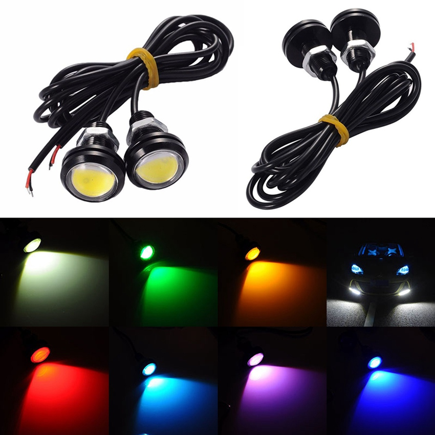 Electric Vehicle Parts 10pcs Waterproof 18mm 9w Cob White Led Eagle Eye Car Fog Drl Turn Signal Light Be Friendly In Use Automobiles & Motorcycles