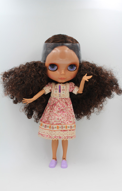 Free Shipping BJD joint RBL-227J DIY Nude Blyth doll birthday gift for girl 4 colour big eyes dolls with beautiful Hair cute toy free shipping cheap rbl no 1 7 diy nude blyth doll birthday gift for girls 4 colour big eyes dolls with beautiful hair cute toy